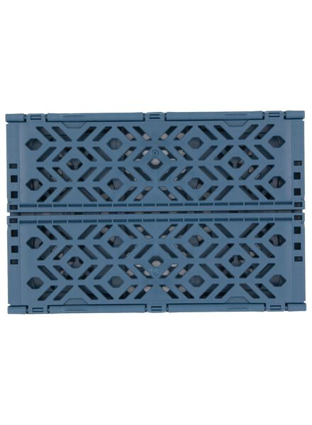 folding crate recycled - 24 x 16 x 9.5 cm - blue dark blue 24 x 16 x 9,5 - 39892904 - hema