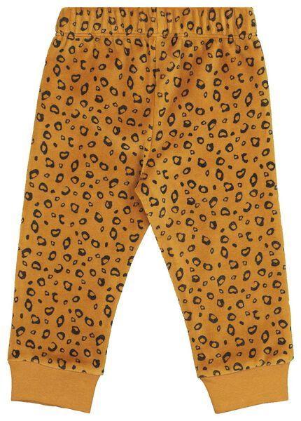 Velours-Baby-Pyjama, Tiere braun braun - 1000020004 - HEMA