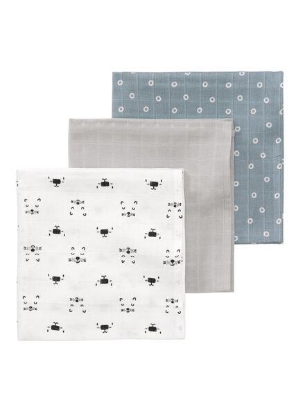 3-pack muslin cloths 60 x 60 cm - 33328048 - hema