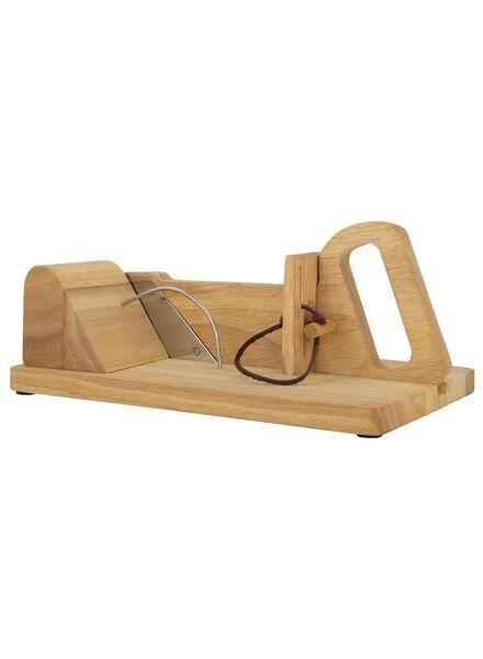 Wurstschneider, Holz mit Edelstahlmesser, 28 x 17 x 13 cm - 80810317 - HEMA