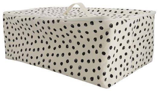 canvas basket with zip 37x55x20 dots - 39821119 - hema