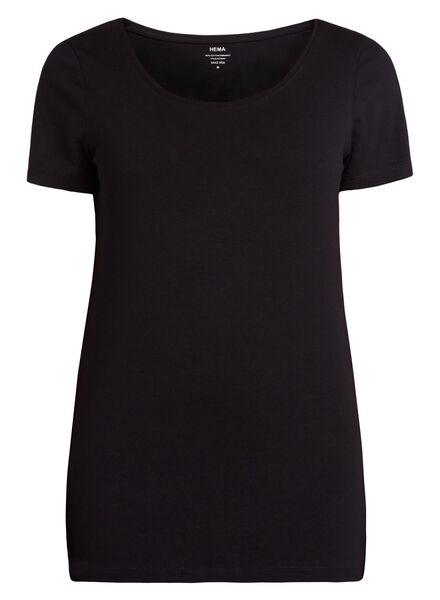 t-shirt femme noir noir - 1000005472 - HEMA