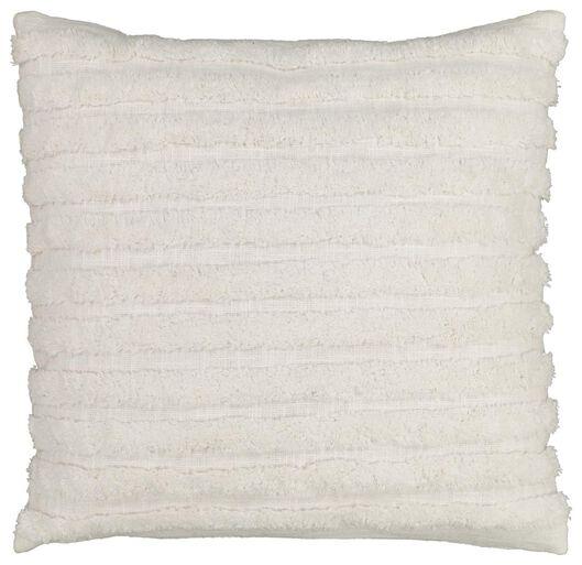 cushion filled 50x50 white stripe - 7322023 - hema