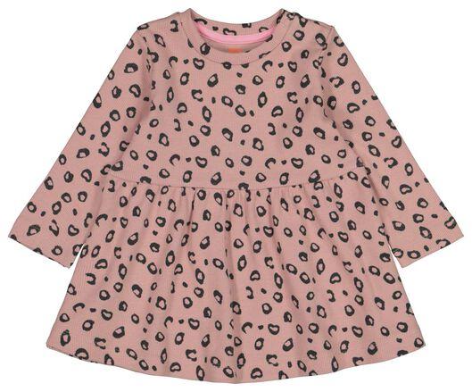 HEMA Baby-Kleid, Rippenstruktur Rosa