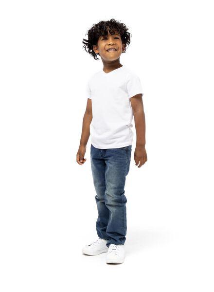 2er-Pack Kinder-T-Shirts, Biobaumwolle weiß weiß - 1000019367 - HEMA