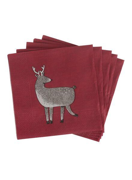 20-pack napkins 24 x 24 cm - 25632272 - hema