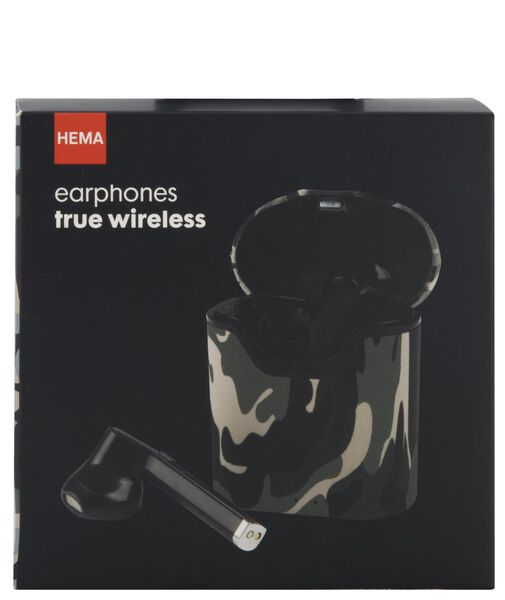oortelefoon draadloos camouflage - 39600161 - HEMA