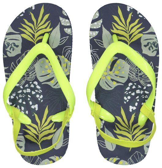 children's flip-flops leaves dark blue dark blue - 1000023098 - hema