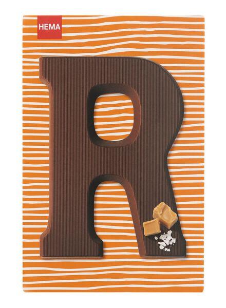 caramel sea salt milk chocolate letter R - 10039017 - hema