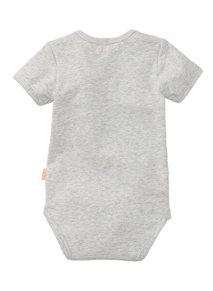 baby bodysuit - organic cotton grey melange grey melange - 1000006660 - hema