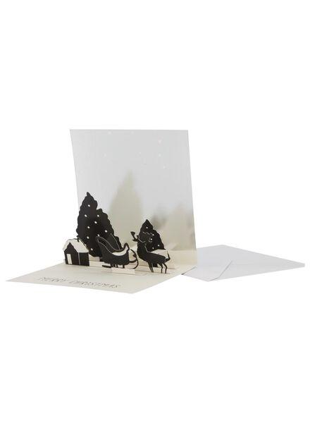 cartes de Noël pop-up avec enveloppe - 25300249 - HEMA