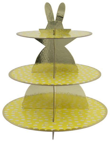 présentoir en carton 3 niveaux - 35 cm - jaune - 25810124 - HEMA