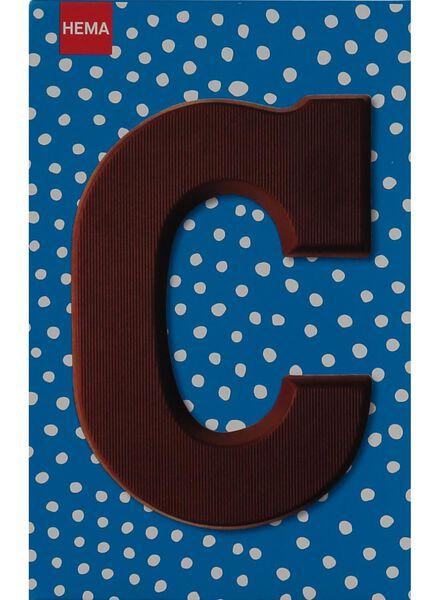 milk chocolate letter C - 10033002 - hema