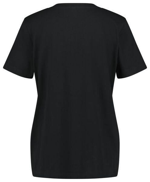 dames t-shirt zwart zwart - 1000023509 - HEMA