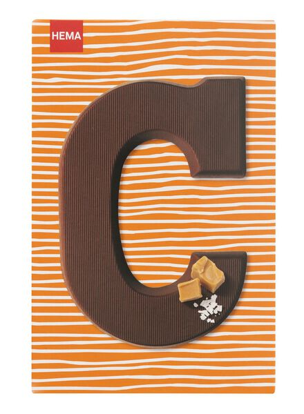 caramel sea salt milk chocolate letter C - 10039003 - hema