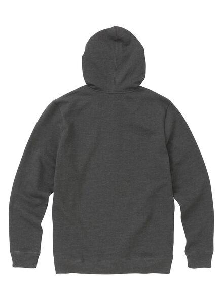 men's sweatshirt cardigan grey melange grey melange - 1000006089 - hema