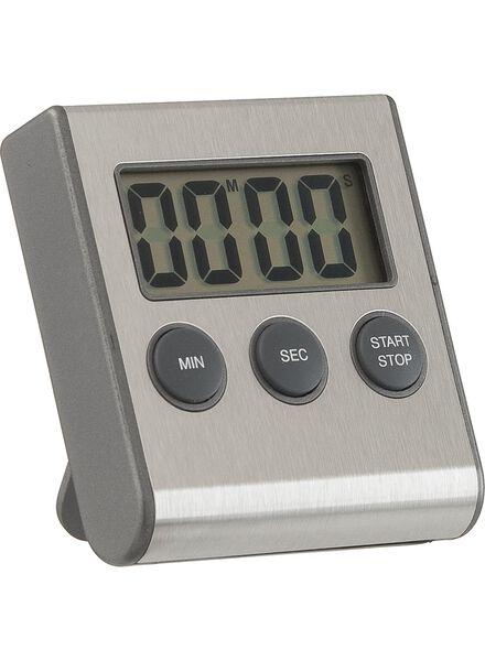 digitaler Küchentimer, magnetisch, Edelstahl - 80841225 - HEMA