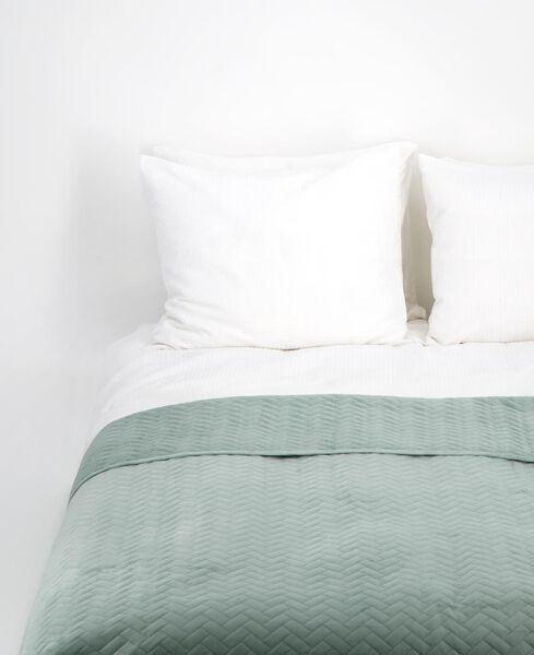 couvre-lit - velours vert clair vert clair - 1000017485 - HEMA