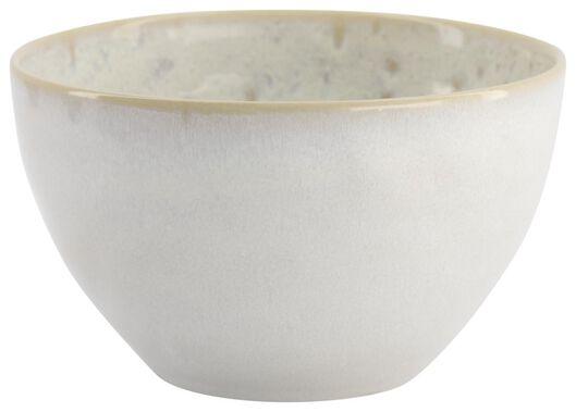 schaal - 14 cm - Porto - reactief glazuur - wit - 9602235 - HEMA