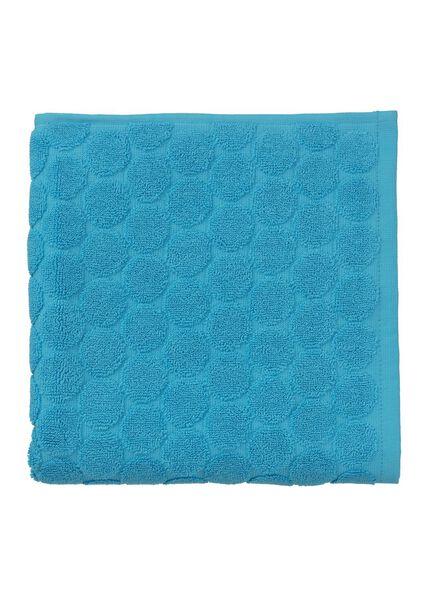 serviette de bain-50x100 cm-qualité épaisse-aqua pois aqua serviette 50 x 100 - 5240176 - HEMA
