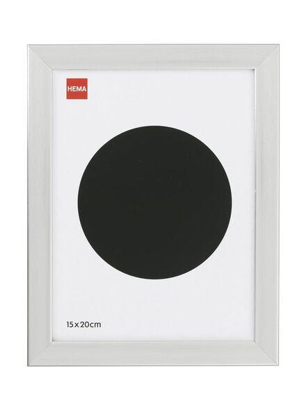 Holz-Bilderrahmen, 15 x 20 cm, silbern - 13680036 - HEMA