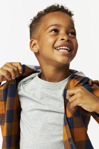 Kinder-Oberhemd mit Kapuze, kariert braun braun - 1000024563 - HEMA