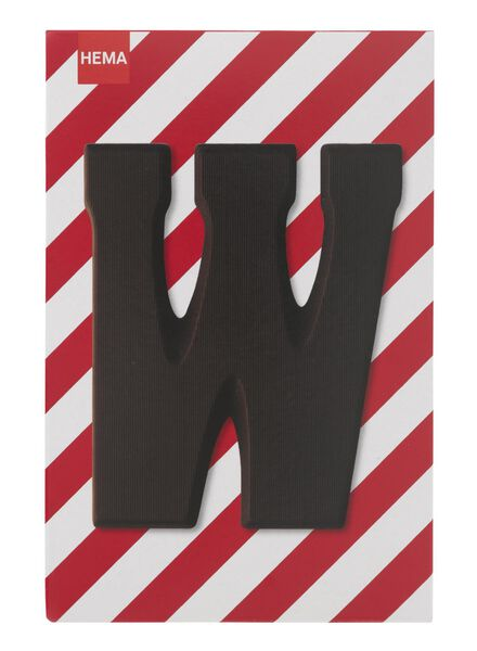dark chocolate letter W - 10034019 - hema