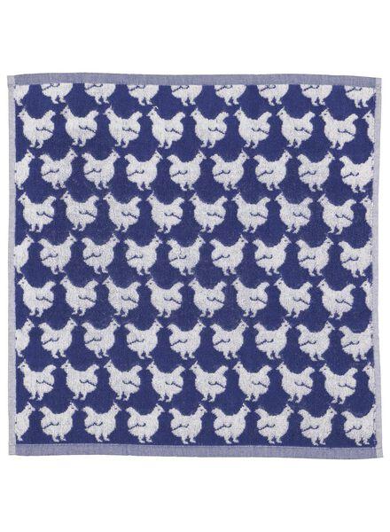 kitchen towel 50x50 chickens - white/blue - 5400103 - hema