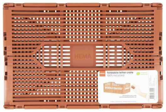 caisse pliante tableau recyclée 20x30x11.5 - marron - 39821022 - HEMA