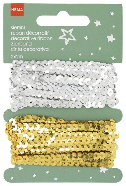 Image of HEMA 2 Decorative Ribbons Gold/silver - 2m (silver)
