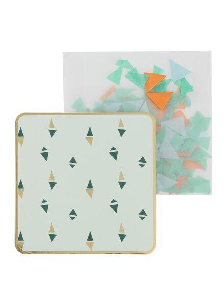 carte de voeux avec confettis - 60800627 - HEMA