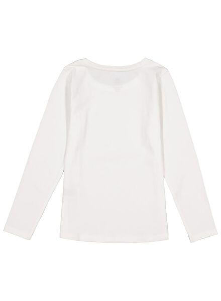 2er-Pack Kinder-Shirts, Biobaumwolle weiß weiß - 1000013796 - HEMA