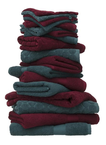towel - 60 x 110 cm - heavy quality - bordeaux dark red towel 60 x 110 - 5220005 - hema
