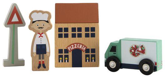 set of wooden blocks pizzeria - 15130093 - hema