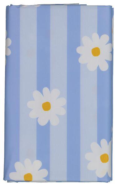 toile cirée 140x240 rayures/fleurs - blanc/bleu - 5390002 - HEMA