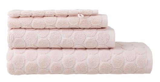 serviettes de bain - qualité épaisse - à pois rose rose - 1000015162 - HEMA