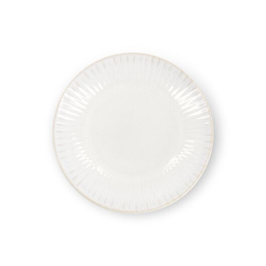 breakfast plate - Ø20cm - France - reactive glaze - white - 9602271 - hema