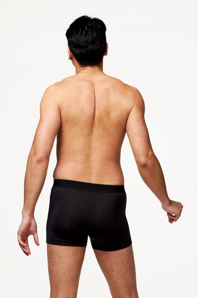 herenboxers kort - modal stretch 2 stuks zwart zwart - 1000022798 - HEMA