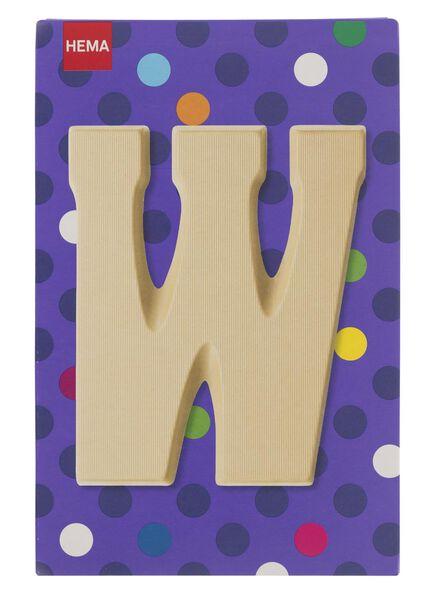 white chocolate letter W - 10037019 - hema
