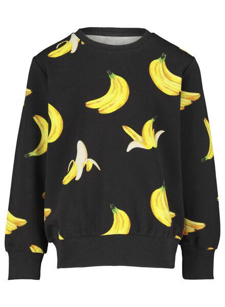 Kinder-Sweatshirt mit Rundhalsausschnitt – Bananas & Bananas schwarz schwarz - 1000016535 - HEMA
