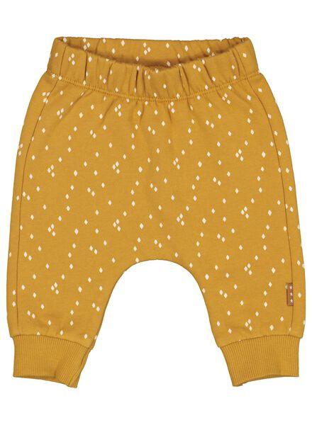 pantalon sweat nouveau-né jaune jaune - 1000014614 - HEMA
