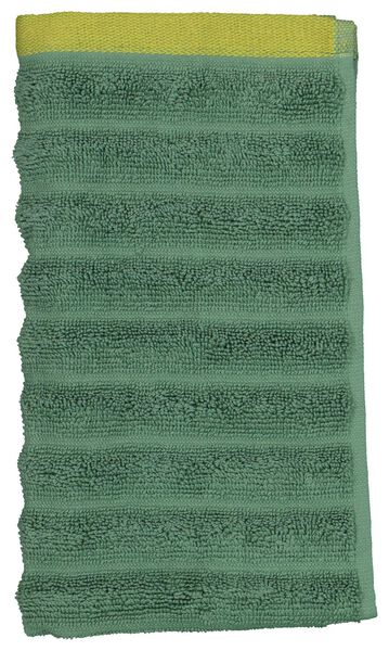 gastendoek - 30x55 - zware kwaliteit - structuur groen - 5220081 - HEMA