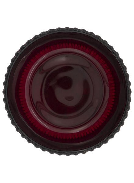 tea light holder - Ø 8.5 cm - ribbed - red - 13392097 - hema