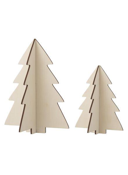 lot de 2 sapins de Noël en bois - 25103028 - HEMA