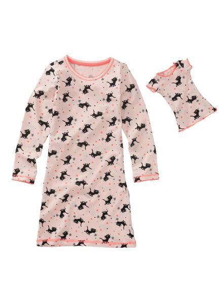 chemises de nuit enfant et poupée rose pâle rose pâle - 1000009660 - HEMA