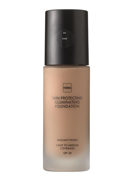 skin protecting illuminating foundation Rose 04 - 11291204 - hema
