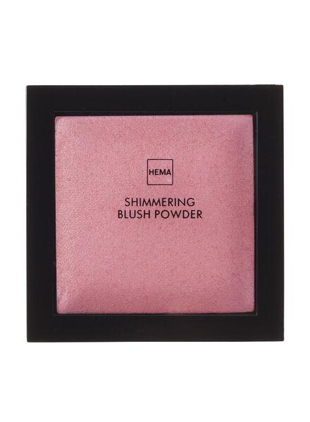 poudre blush scintillante preppy pink - 11294857 - HEMA