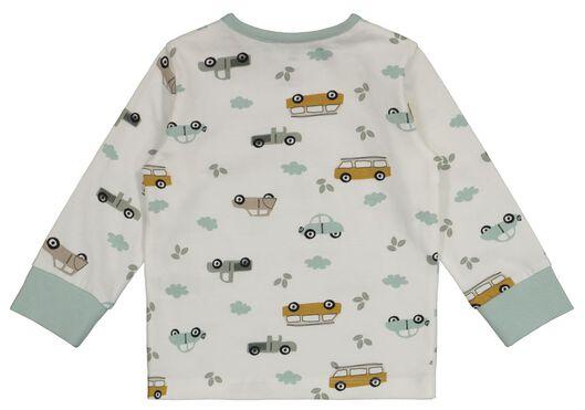 2er-Pack Baby-Pyjamas, Autos/Streifen eierschalenfarben 74/80 - 33327321 - HEMA