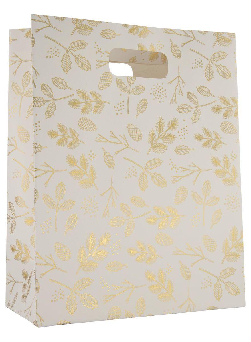 sac à cadeaux 32x25x12 blanc/doré - 25700026 - HEMA
