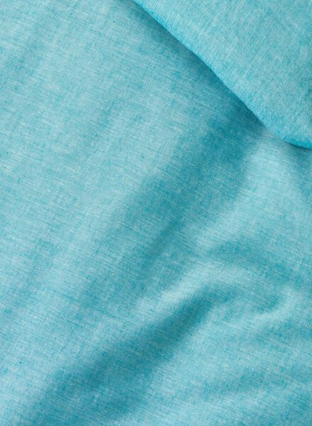 housse de couette-coton chambray-140x200cm-bleu - 5700065 - HEMA